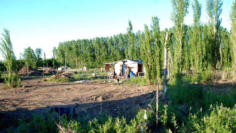 El asentamiento crece en una chacra de unas 17 hectáreas.