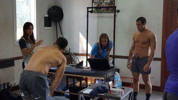 Facundo Nogueira en el primer día de la concentración con Argentina XV.