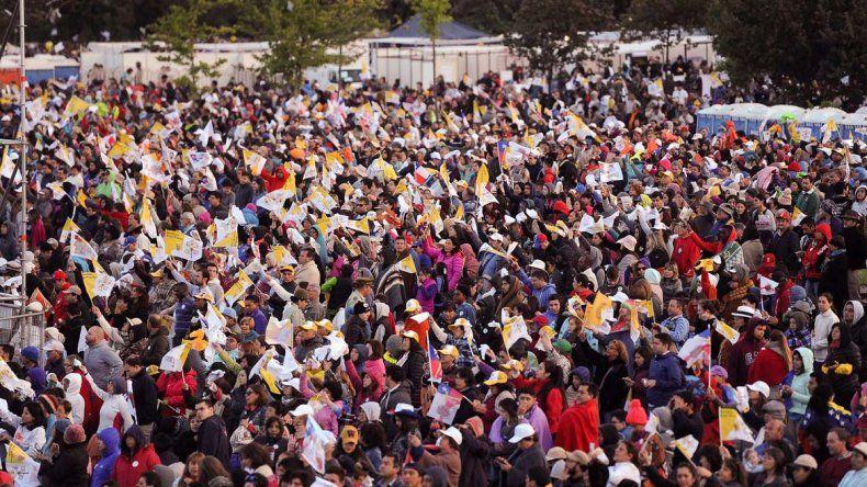 Mirá todo el color del primer día del Papa en Chile