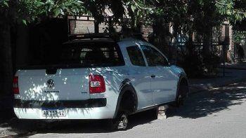 robarruedas al acecho: atacaron a una camioneta en el san pablo
