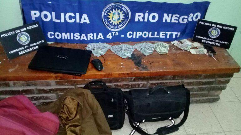 Una parejita de adolescentes se robó 7 mil dólares de una camioneta y los atraparon