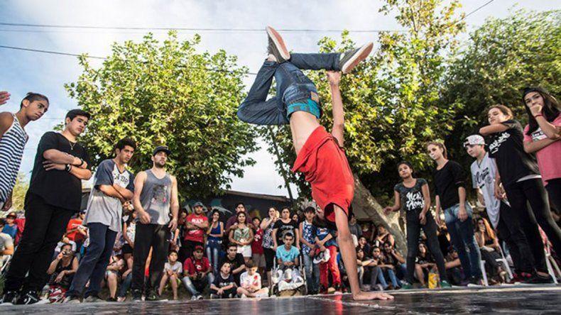 En el barrio Labraña se dictarán clases de break dance.