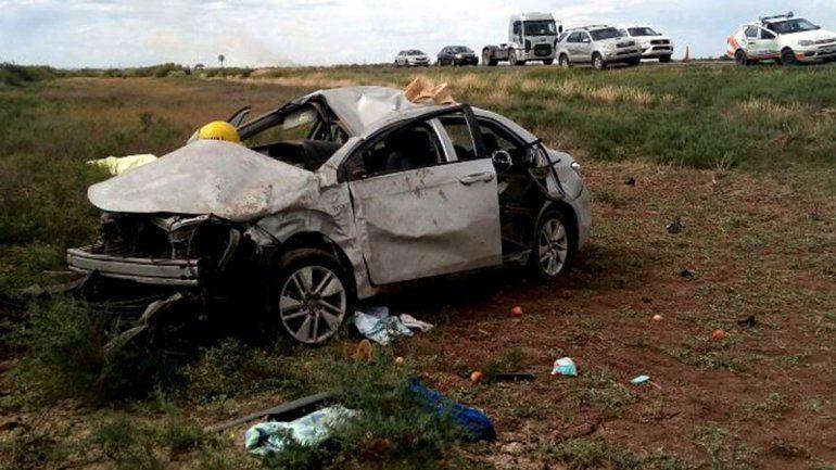 Una mujer de 92 años murió en un vuelco sobre la Ruta 151