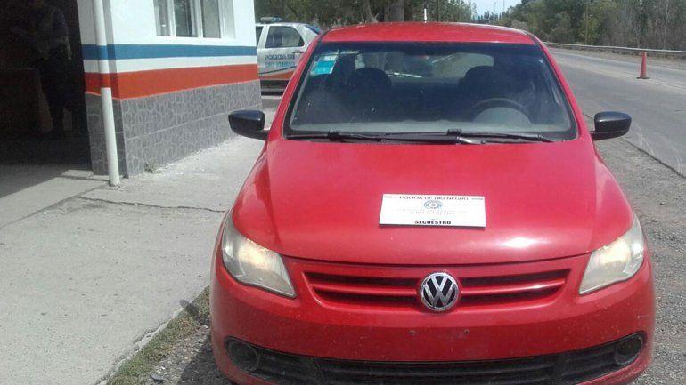 Personal de Seguridad Vial secuestró un Gol Trend color rojo que se intentaba ingresar a la provincia.