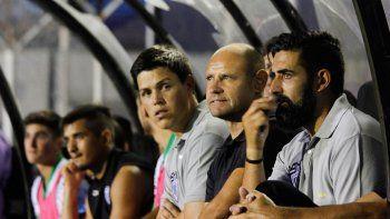 Servera, Botella y Padilla, el flamante cuerpo técnico del equipo albinegro.