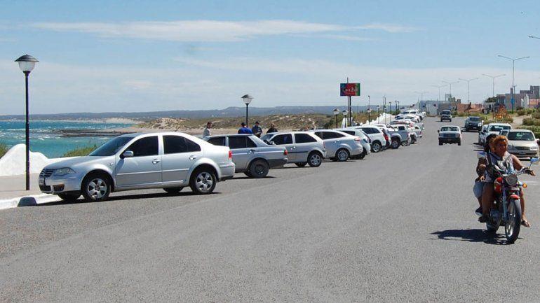 La costanera es uno de los sectores con estacionamiento pago.