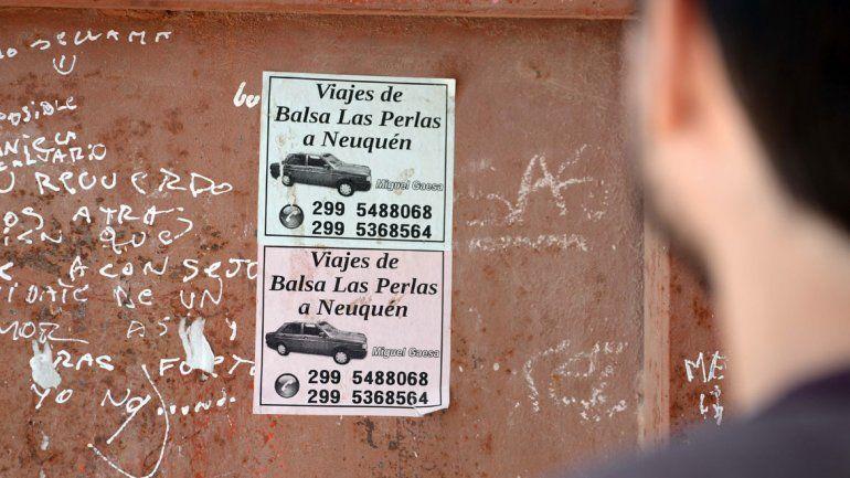 Las publicidades del remís ambulancia están por todo Las Perlas.