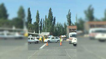 Caos en el tránsito por un choque sobre la Ruta 22