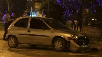 Brutal choque en pleno centro dejó dos personas heridas