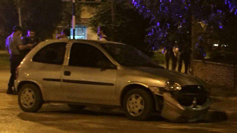 Brutal choque en pleno centro cipoleño terminó con dos personas heridas