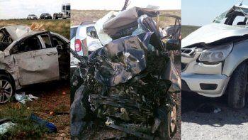 Ruta 151: 11 vehículos sufrieron accidentes de tránsito y 8 personas murieron en un mes