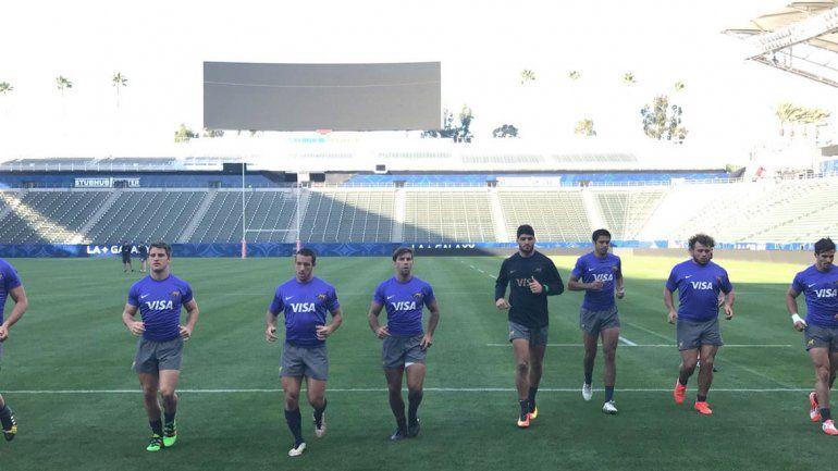 Facu Nogueira en el estadio Stub Hub Center de Los Ángeles.