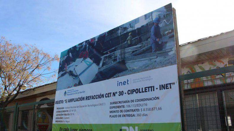 Se espera que la obra de ampliación del CET 30 esté finalizada para mitad de año.