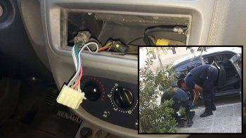 barrio brentana: palanquearon la puerta de un auto y robaron todo