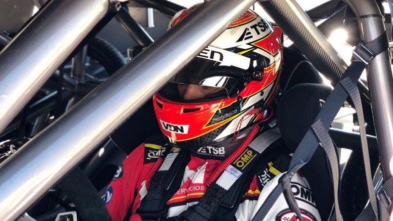 Manu probó el jueves en el autódromo de Viedma.