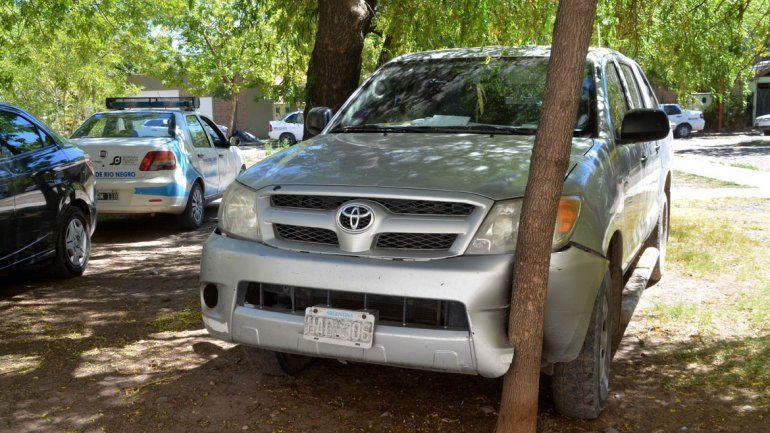 La camioneta quedó estacionada en el pasaje José Hernández
