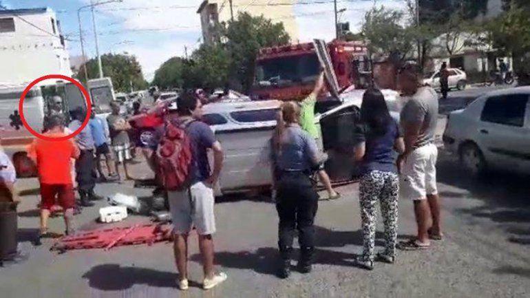 Extraña aparición tras un accidente atemoriza a los vecinos de Cipolletti