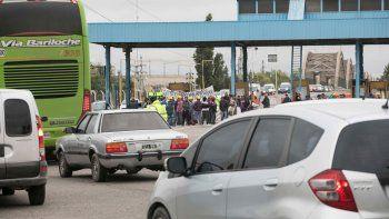 Los obreros de la Uocra hicieron un corte parcial de la ruta por 6 horas.