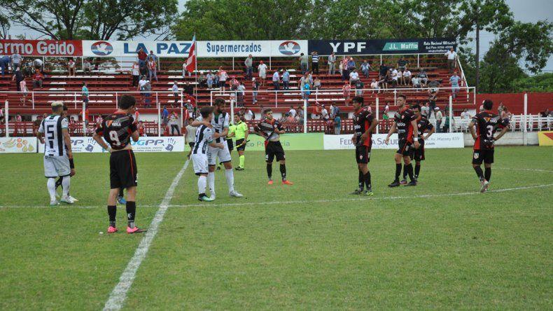 El festejo del gol de Piñero da Silva, la última vez que Cipo jugó en Lincoln.