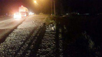 Le amputaron una pierna a un motociclista luego de chocar con un auto en la Ruta 151