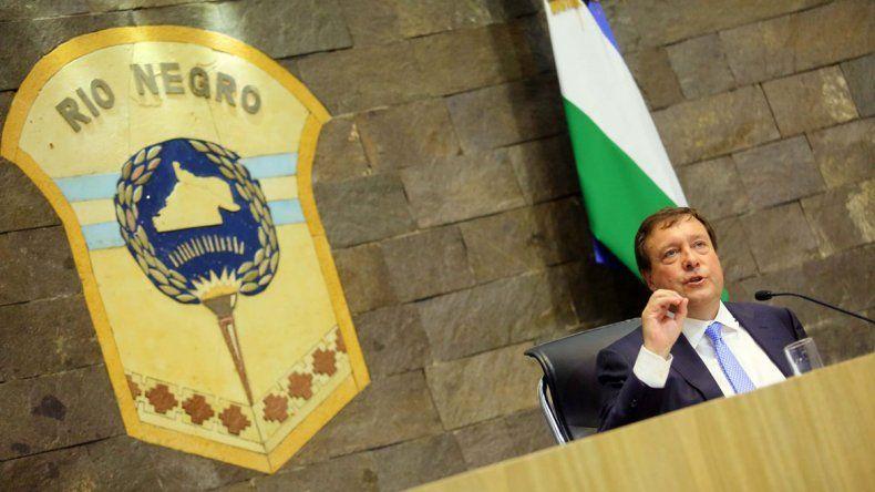 El gobernador Alberto Weretilneck encabezó ayer un nuevo acto de inicio de sesiones ordinarias en la Legislatura.