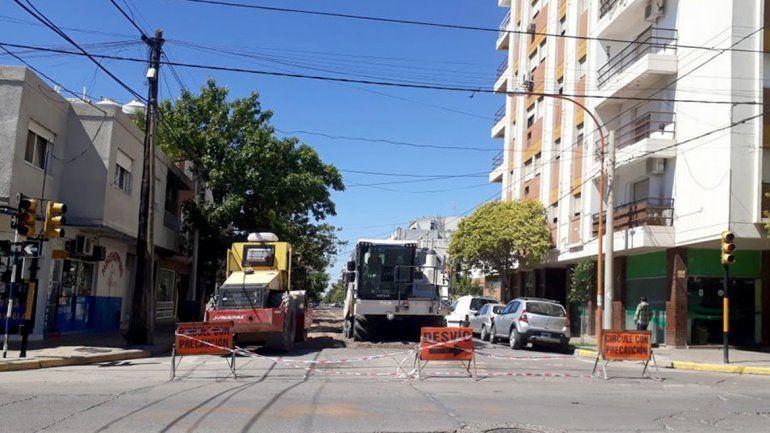 Por obras de pavimentación, habrá calles cortadas en la ciudad