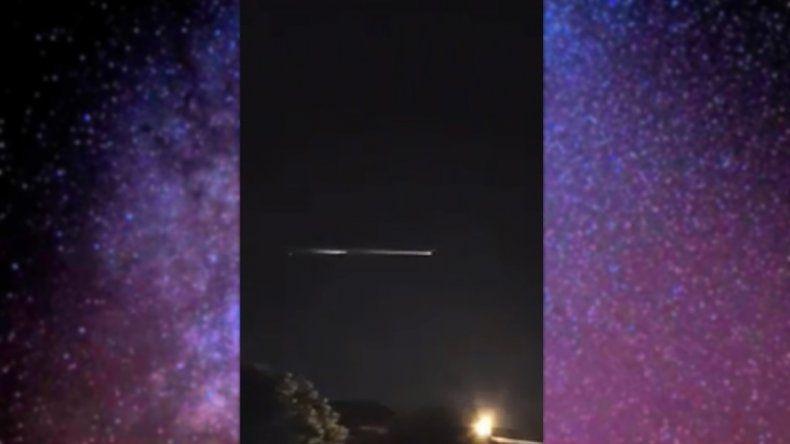 Un espectáculo de luces: cayeron restos de un impulsor de satélites en Formosa