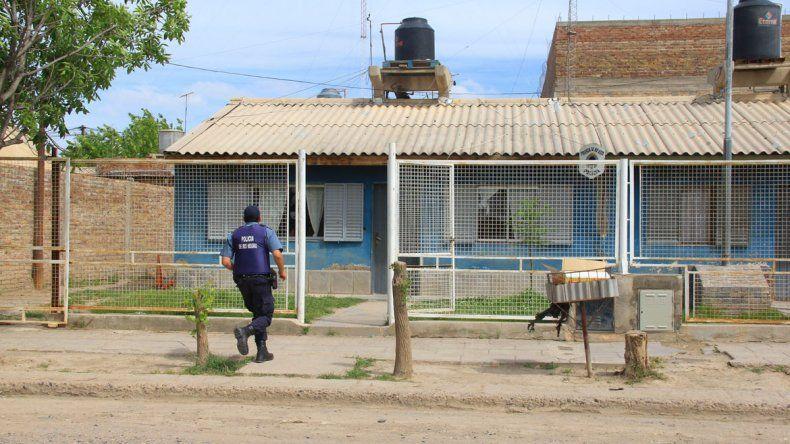 La Policía del Mapu tuvo que hacer un intenso trabajo tras el asesinato.