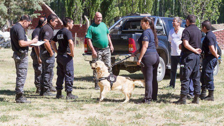 Dos perros cipoleños viajarán a Las Ovejas para buscar al femicida Lorenzo Muñoz