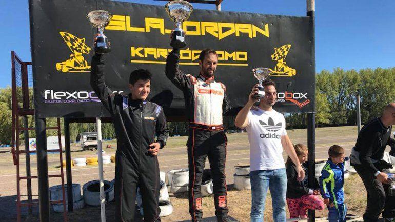 El podio de la categoría Senior.