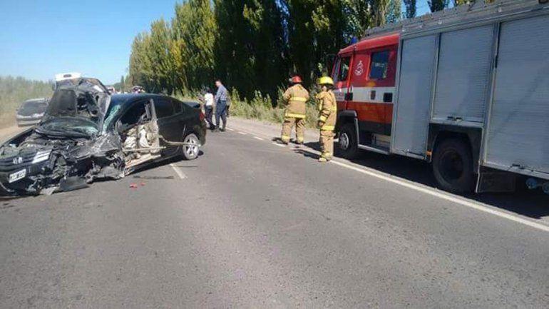 El trágico accidente ocurrió en la Ruta Nacional 151