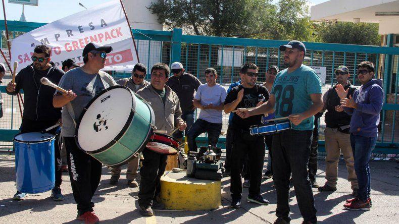 La manifestación de los trabajadores generó curiosidad