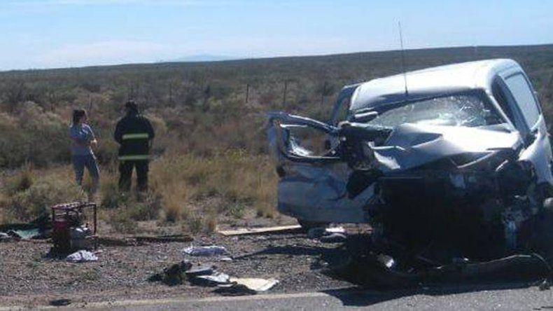 Tragedia sobre la Ruta 151: tres personas murieron en un choque frontal