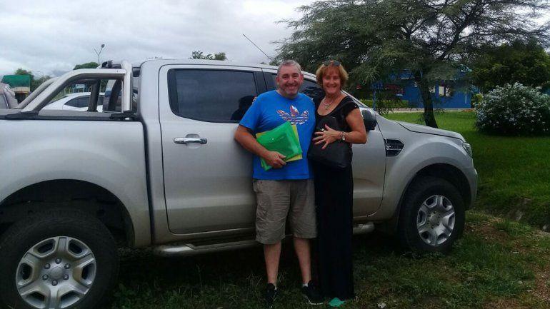 Sonia y Pablo lograron recuperar su camioneta y volver a casa luego de 42 días de incertidumbre.