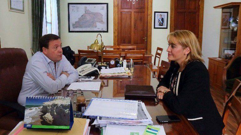 Weretilneck recibió en su despacho a la diputada macrista Matzen.