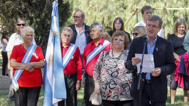 Tortoriello encabezó el acto de conmemoración por el 2 de abril