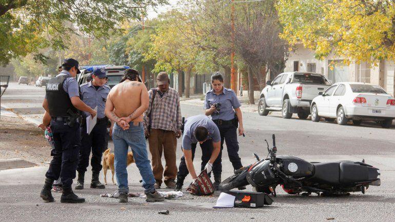 Los motochorros habían sido atrapados el martes por la tarde.