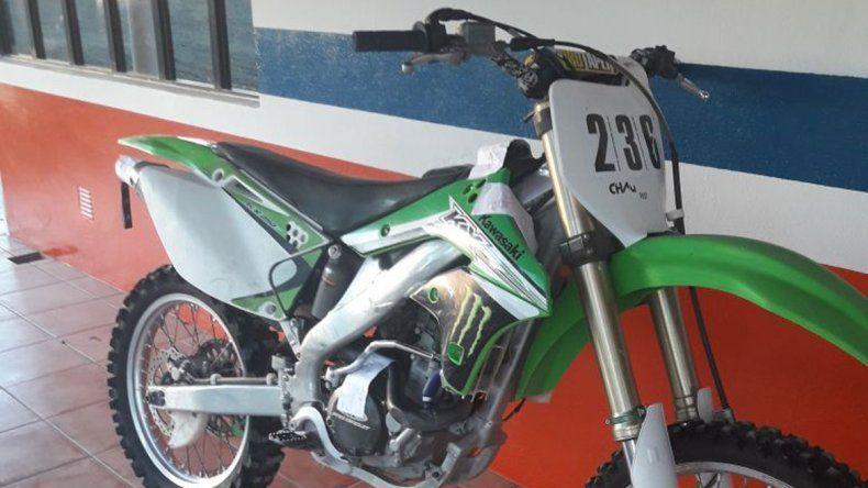 La moto robada en Cinco Saltos ya estaba en la zona del Valle Medio.