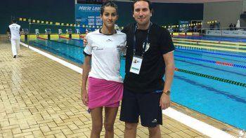 Cantera junto a su entrenador Jorge García, en el absoluto de Brasil.