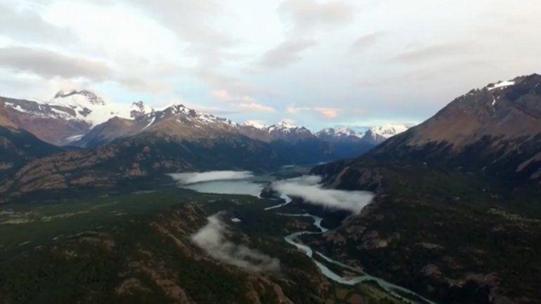 Mirá los paisajes más impresionantes de la Patagonia desde un drone