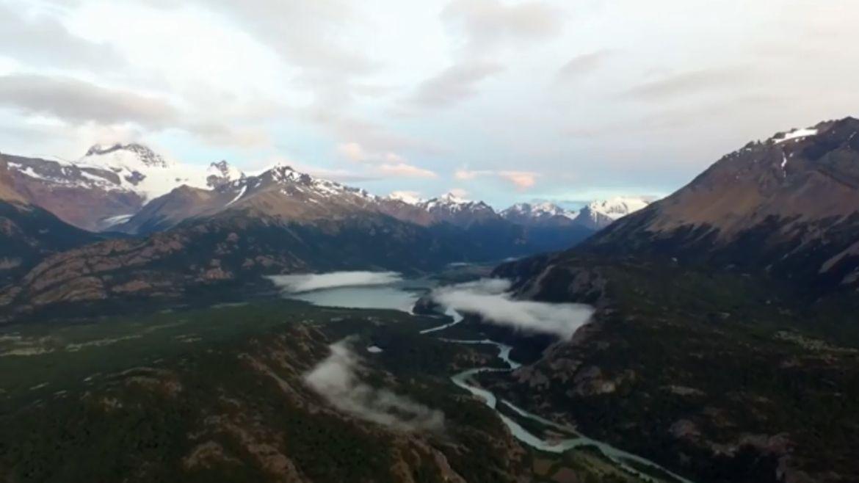 Mirá los paisajes más impactantes de la Patagonia desde un drone