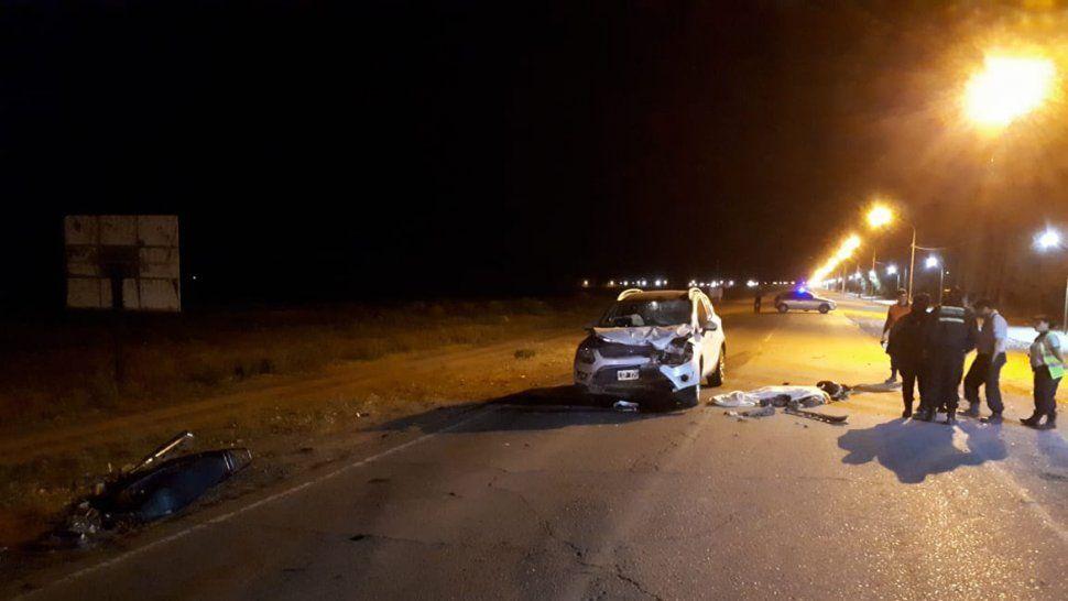 Tragedia sobre la Ruta 151: un motociclista murió tras un impactante choque frontal