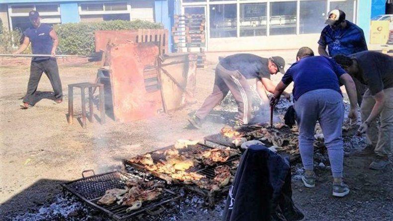 La pollada solidaria de los trabajadores de Interlagos fue un éxito