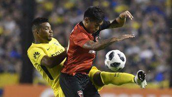 Opazo no tuvo situaciones de gol en la cancha de Boca, donde fue titular.