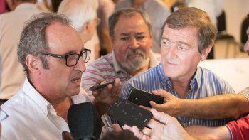 Bordignon y Tortoriello ante el periodismo, en ocasión de la asunción del primero como secretario de Gobierno. Una dupla política sólida en Cambiemos.