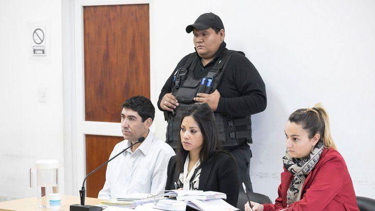El acusado de matar a su papá se mostró tranquilo en las audiencias.