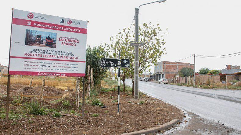 La obra de asfalto de la calle Saturnino Franco ya quedó terminada.