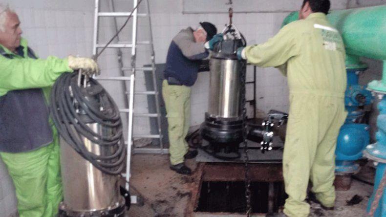 Las bombas fueron instaladas en la Estación Elevadora N° 2.