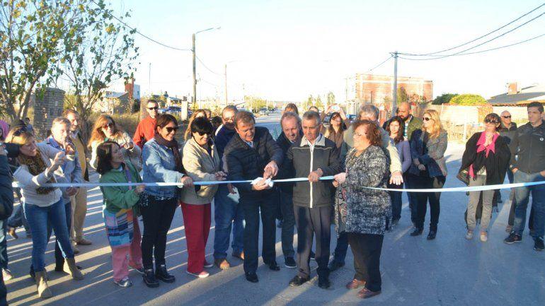 La Muni inauguró la pavimentación de la calle Saturnino Franco