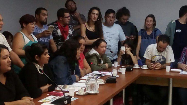 La cipoleña Lila Calderón fue una de las dirigentes de asentamientos que argumentaron ante diputados nacionales.